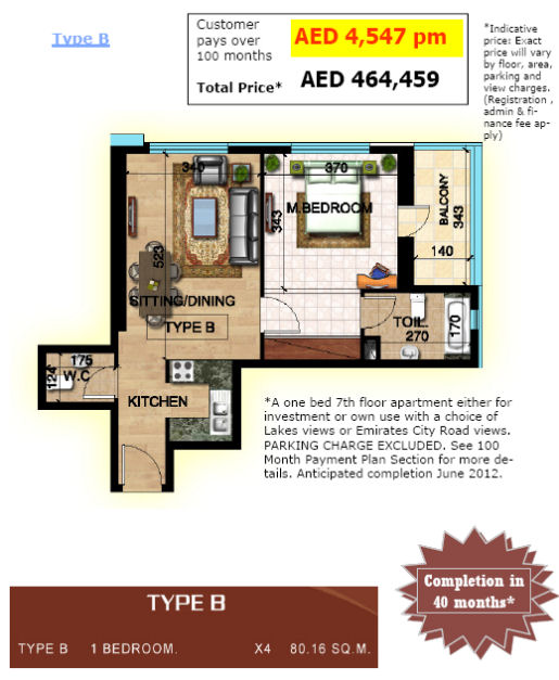 Type B sapphire Tower pricing and layout