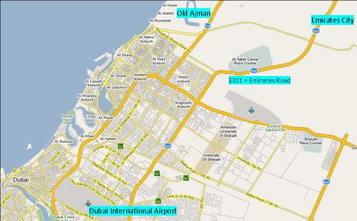 Map of Ajman